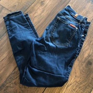 7 For All Mankind Skinny Ankle Jeans - sz 28